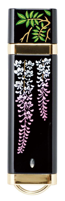 蒔絵USB スワロフスキー藤の花
