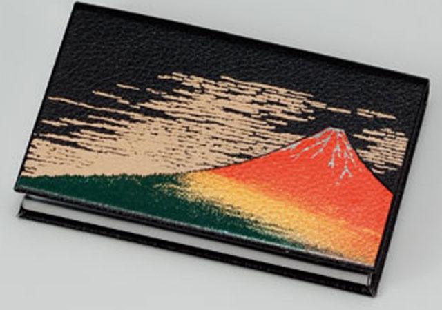 蒔絵カードケース 北斎 赤富士