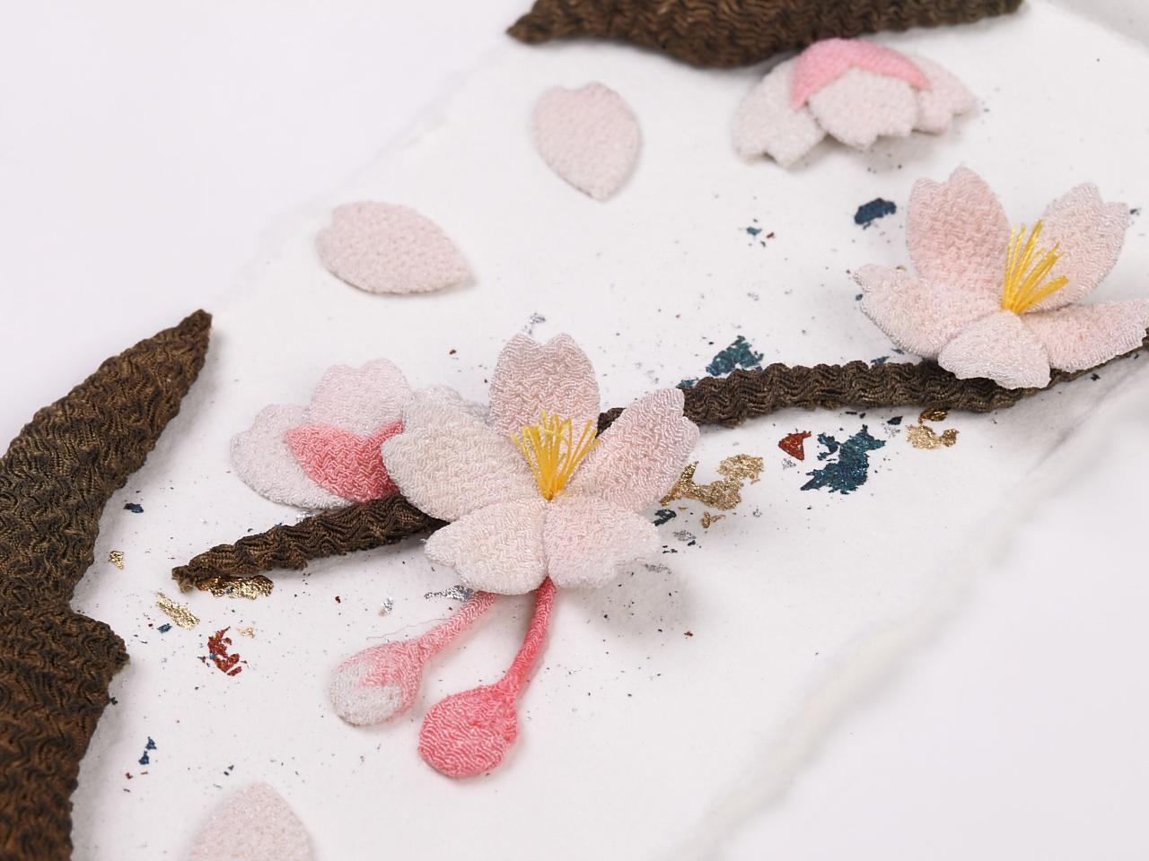 ちりめん細工タペストリー 桜