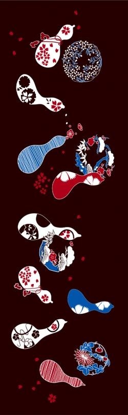 サプライズな日本土産 てぬぐい灯 桜の舞