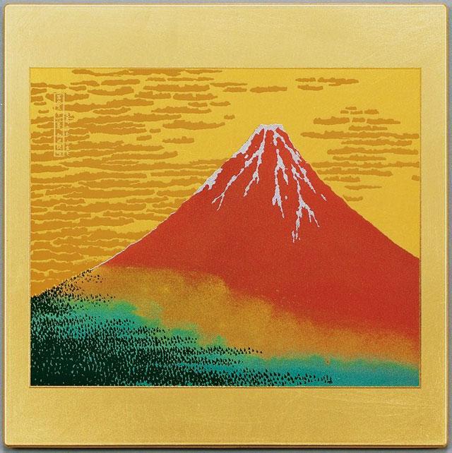 蒔絵マウスパッド 赤富士