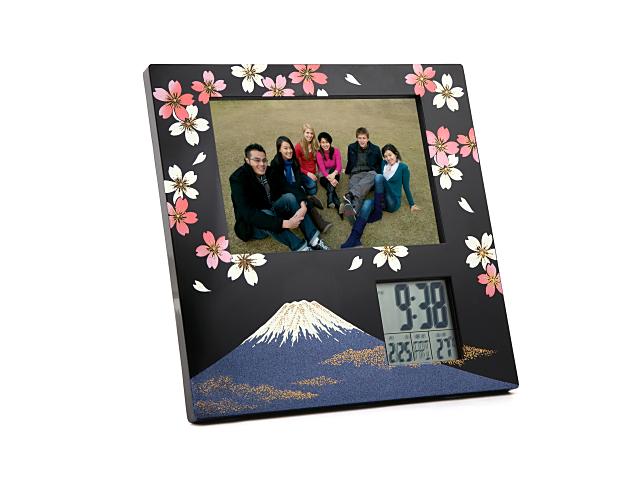 蒔絵フォトフレーム 富士に桜