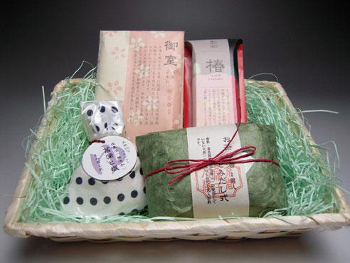 京の入浴剤セット(かご入り)