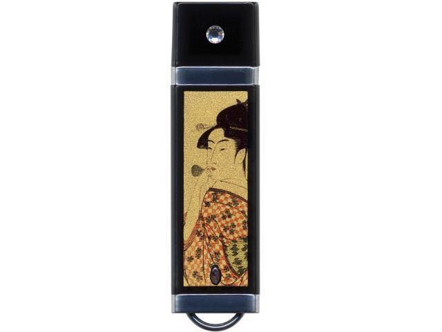 蒔絵USBフラッシュメモリー ポッピンを吹く女